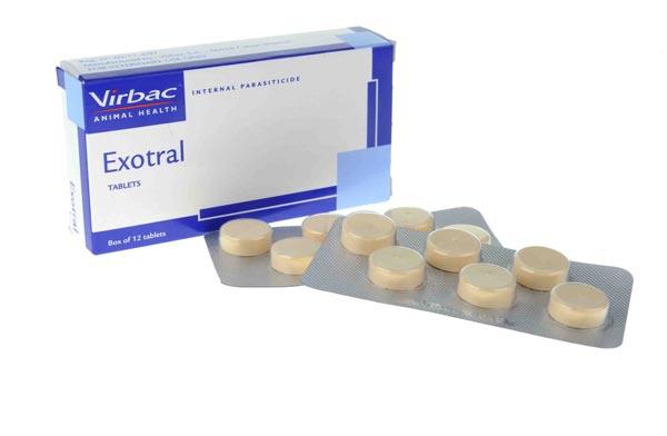 Thuốc tẩy giun EXOTRAL dành cho chó giá bán 15k/1 viên